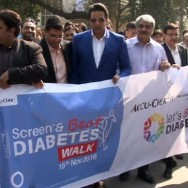 wasim akram diabetes walk