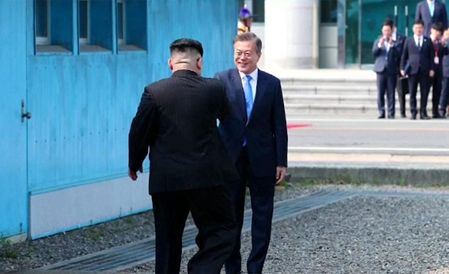 کوریائی خطے میں تاریخی لمحہ، پرانے حریف ایک ہو گئے