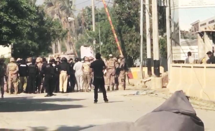 کراچی ، چینی قونصلیٹ پر بزدلانہ وار ناکام ، تین دہشت گرد نشان عبرت بن گئے
