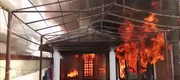 آگ حناء، مناہل خفظہ ، ثناء اور نینا ریسکیو 1122 بے نظیر بھٹو ہسپتال