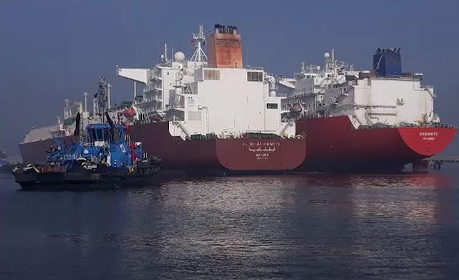 ایل این جی گیس لیے دو بحری جہاز کراچی بندرگاہ پر لنگر انداز ہو گئے