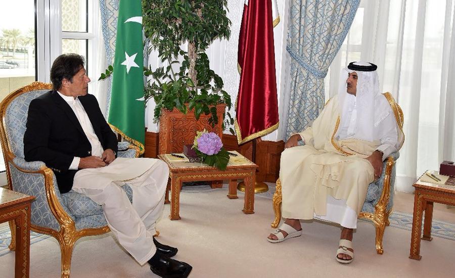 وزیر اعظم کا دورہ قطر ، دوحہ میں ایوان امیری  میں امیر قطر نے استقبال کیا