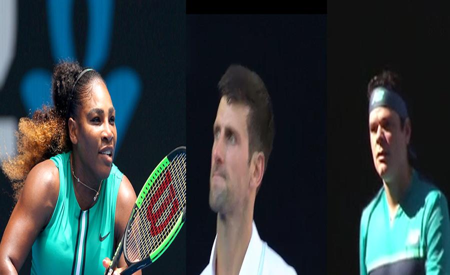 آسٹریلین اوپن ٹینس ، سرینا ولیمز،نوواک  اور راؤنک نے اپنے اپنے میچز جیت لئے