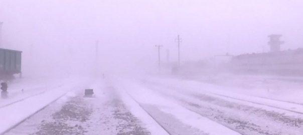 برفباری 5 ملی میٹر برفباری ریلوے لائنز معمولات زندگی