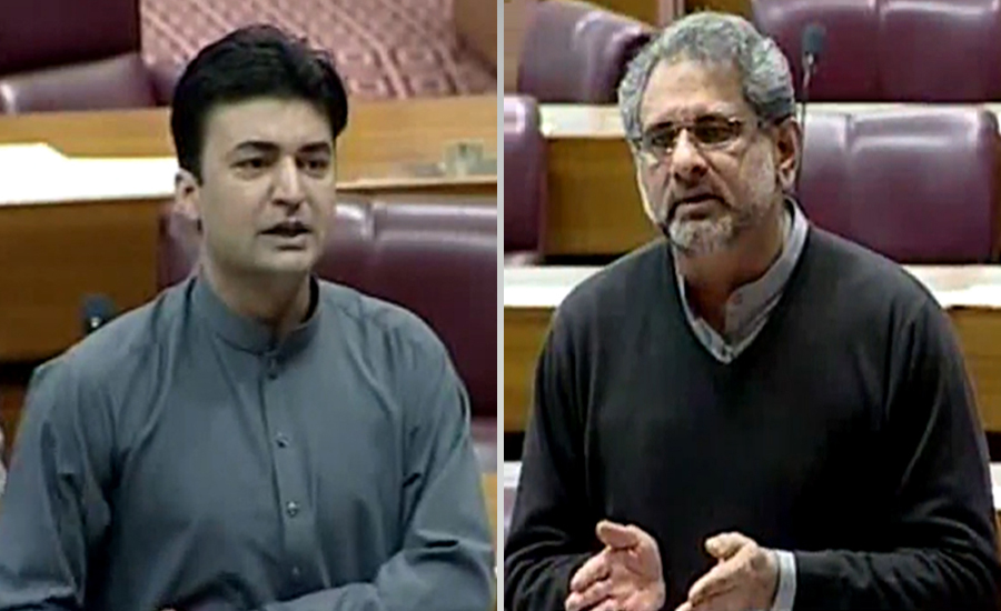 قومی اسمبلی کا ہنگامہ خیز اجلاس ، مراد سعید کی تقریر پر اپوزیشن کاا حتجاج