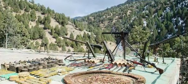 سکیورٹی فورسز جنوبی وزیرستان اسلحہ گولہ بارود آئی ایس پی آر آپریشن