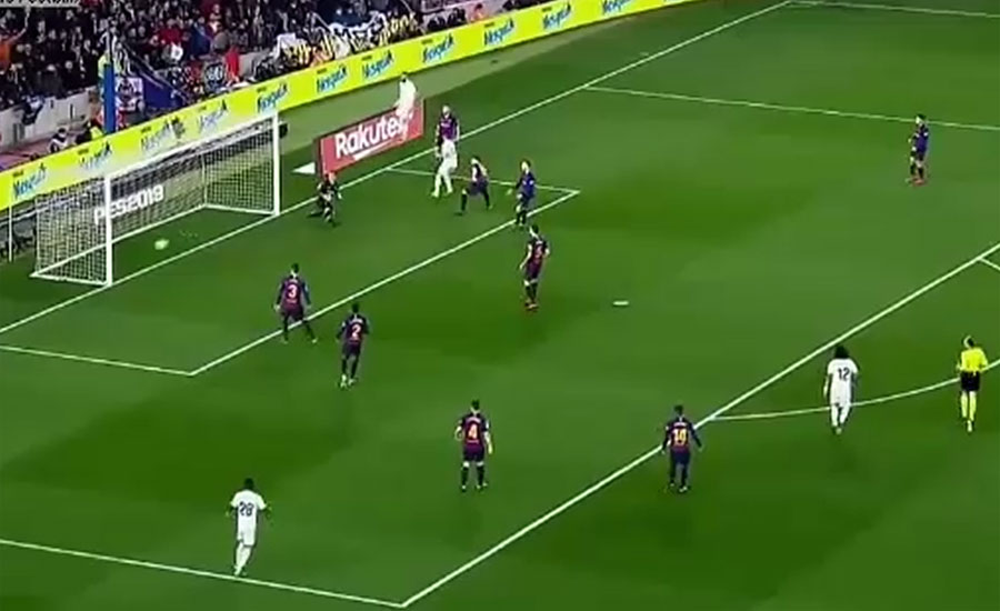 کوپا ڈیل رے فٹبال ، بارسلونا اور ریال میڈرڈ کا میچ ایک ایک گول سے برابر رہا