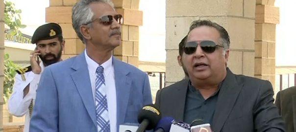گورنر سندھ عمران اسماعیل تجاوزات مئیر کراچی وسیم اختر اختیارات فنڈز