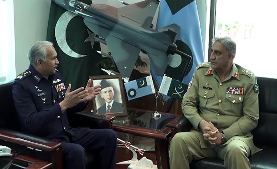 آرمی چیف کا ائیرہیڈکوارٹرز کا دورہ، ایئر چیف سے ملاقات کی،آئی ایس پی آر