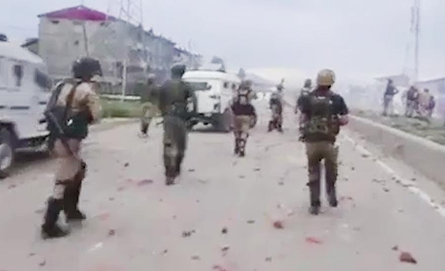 مقبوضہ کشمیر میں بھارتی فورسز کے چھاپوں کیخلاف ہڑتال