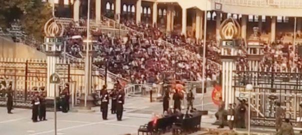 واہگہ بارڈ تقریب بھارتی بنچوں ایل او سی لڑاکا طیارے