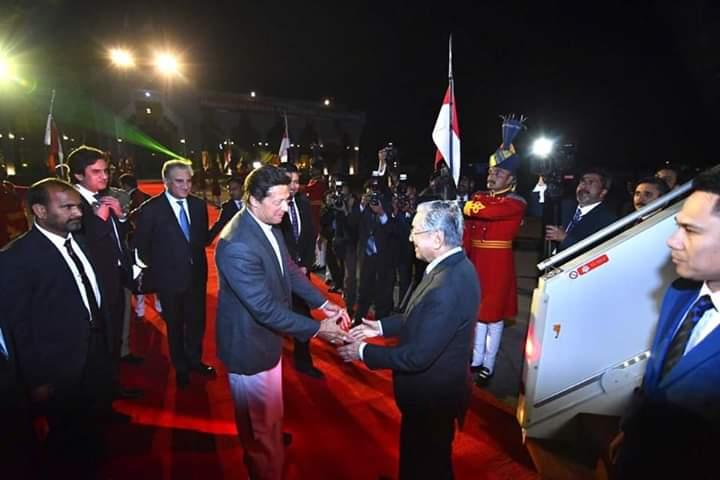 ملائیشیا کے وزیراعظم مہاتیر محمد پاکستان پہنچ گئے
