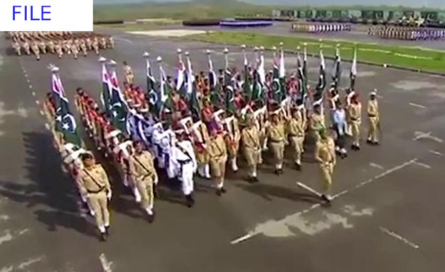 یوم پاکستان تقریب کی فل ڈریس ریہرسل ، طیاروں کی گھن گرج نے لہو گرمادیا