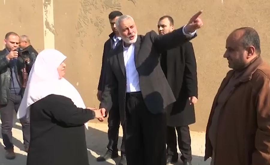 اسرائیل کی فوج کے فضائی حملے رکنے کے بعد اسماعیل ہنیہ سامنے آگئے 