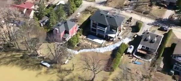 کینیڈا ، کیوبک میں موسلا دھار بارشوں کے بعد سیلابی صورتحال