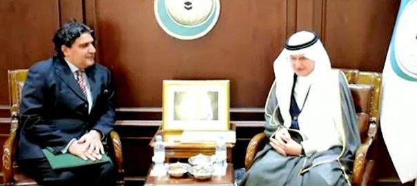 پاکستان کے سعودی عرب میں سفیر علی اعجاز کی او آئی سی کے سیکرٹری جنرل سے ملاقات