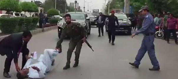 بیٹے ، قاتلوں ، گرفتار ، وزیراعلیٰ پنجاب ، گاڑی ، احتجاج