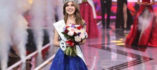 مس روس 2019 کا تاج علینہ سینکوا کے سر سج گیا