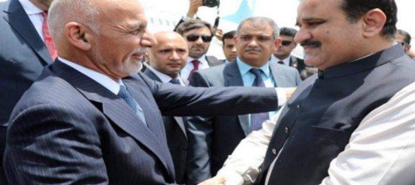 پاکستان دورے افغان صدر آمد عثمان بزدار معزز مہمان استقبال