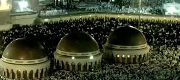 حرم شریف  مسجد نبوی ؐ  مکہ  92 نیوز  امام کعبہ  شیخ عبدالرحمان السدیس  امت مسلمہ  رقت آمیز دعا  باران رحمت  بابرکت رات  آخری عشرہ  29 رمضان