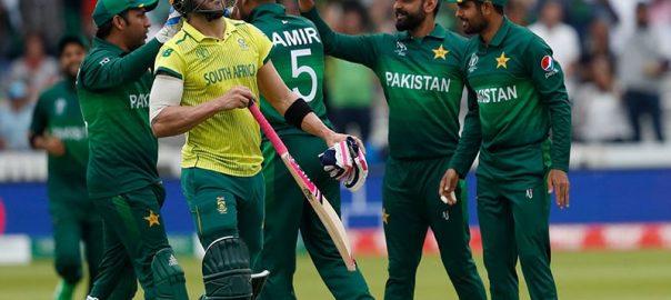 جنوبی افریقہ پاکستان سیمی فائنل کی دوڑ میں شامل لاہور  92 نیوز  رن ریٹ  فائنل فور  کرکٹ ورلڈ کپ 