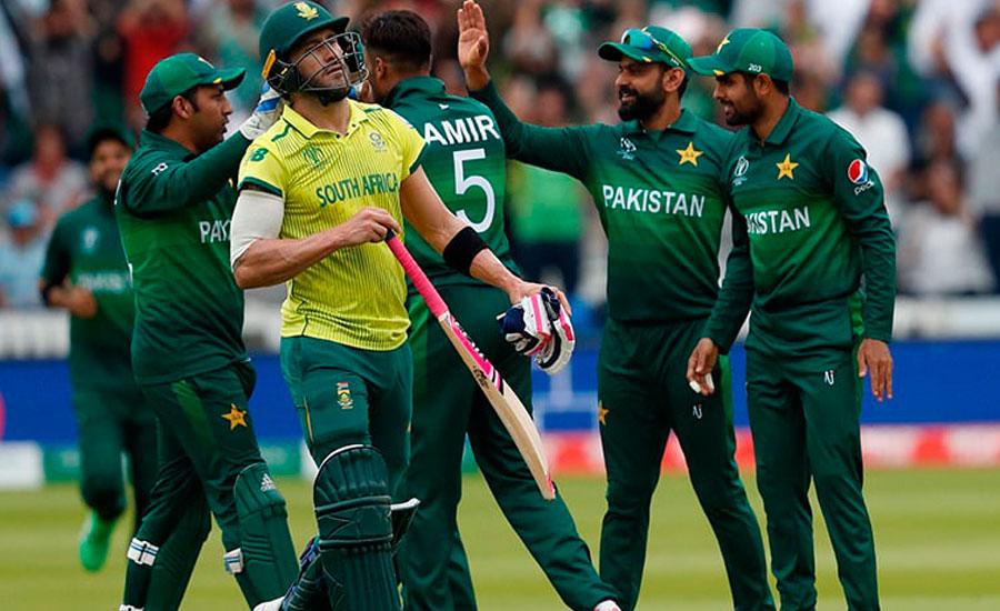 پاکستان نے اہم میچ میں جنوبی افریقہ کو  انچاس رنز سے شکست دے دی