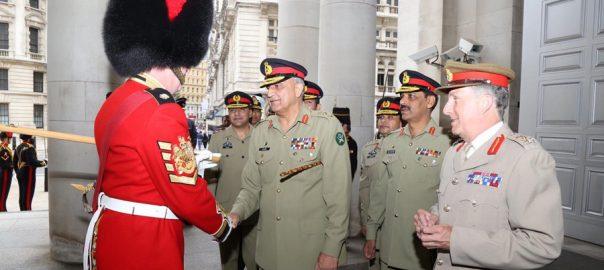 آرمی چیف، جنرل قمر جاوید باجوہ، برطانوی، وزارت دفاع، چیف آف ڈیفنس اسٹاف، جنرل سرنکولس کارٹر