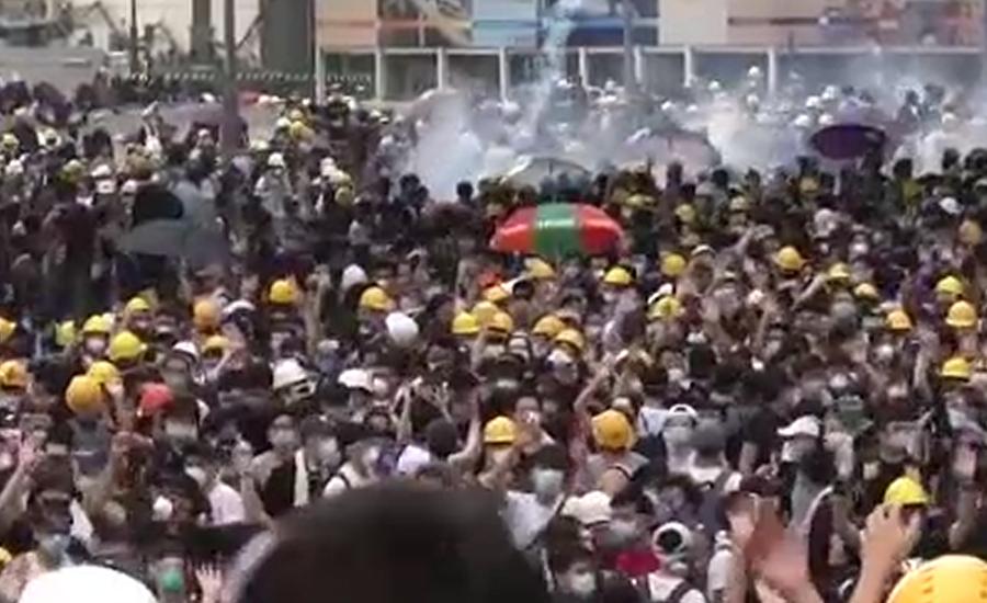 ہانگ کانگ میں حکومت مخالف احتجاج جاری