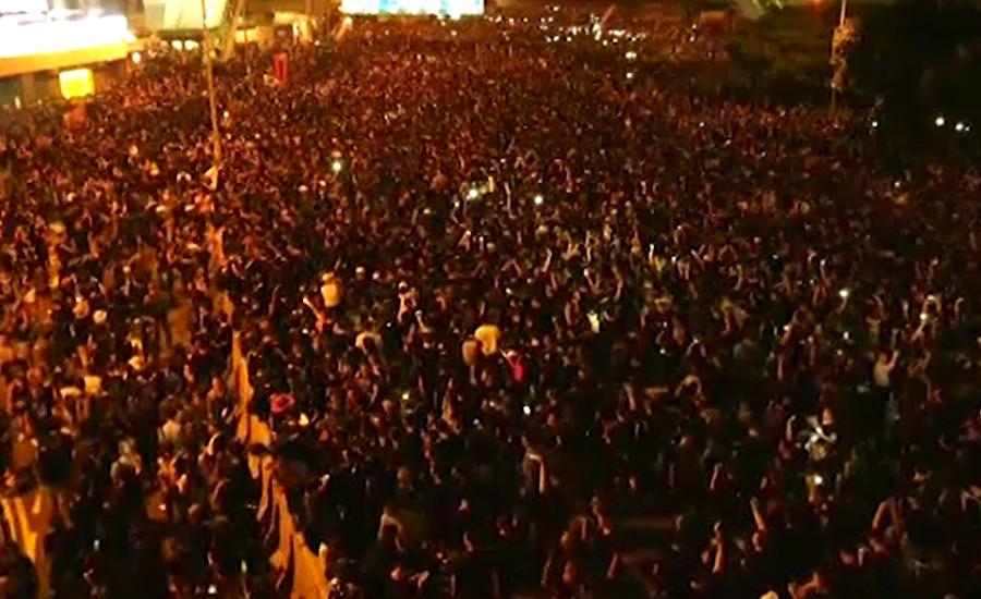 متنازعہ قانون واپس لینے کے باوجود مظاہرین ہانگ کانگ کی سڑکوں پر موجود