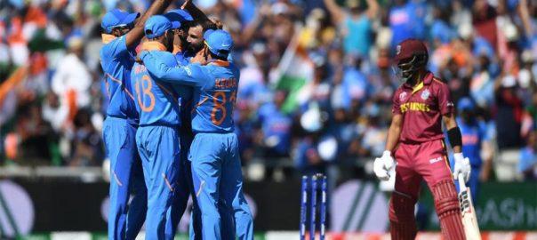 بھارت ویسٹ انڈیز جیت 269 رنز ہدف