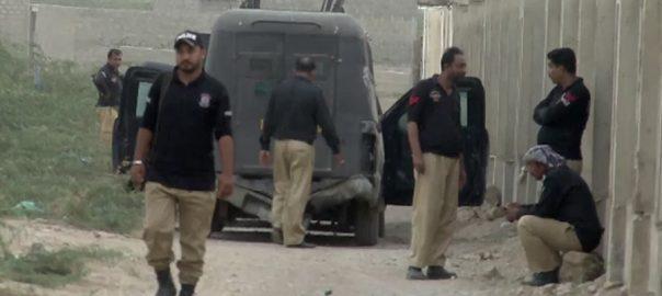 کراچی  دہشتگردی  تین دہشتگرد ہلاک  92 نیوز خدا بخش گوٹھ  پولیس مقابلے  خودکش جیکٹ دستی بم  ڈیٹونیٹر 