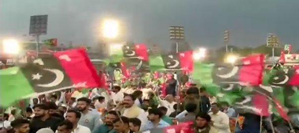 گوجر خان بلاول بھٹو آمد قبل گرد آلود آندھی جلسہ انتظامات درہم برہم