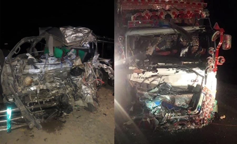 قلعہ سیف اللہ میں ٹرک اور مسافر وین میں تصادم،14 افراد جاں بحق