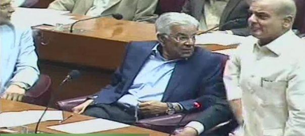 شہباز شریف وزیراعظم قومی اسمبلی اجلاس موجودگی متنازعہ جملہ
