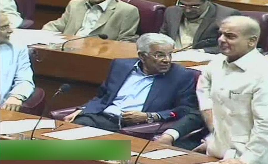 قومی اسمبلی کے اجلاس میں شہباز شریف کا عمران خان کیلئے غیر پارلیمانی لفظ کا استعمال