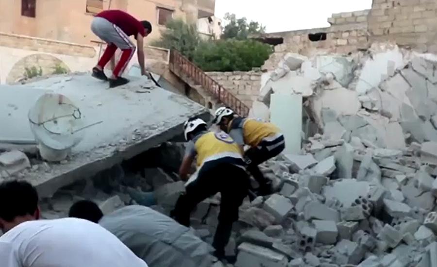 شام میں حکومتی طیاروں کی بمباری ، بچوں سمیت 9 شہری جاں بحق