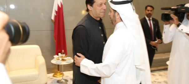 وزیر اعظم عمران خان امریکہ دورے واپسی دوحہ