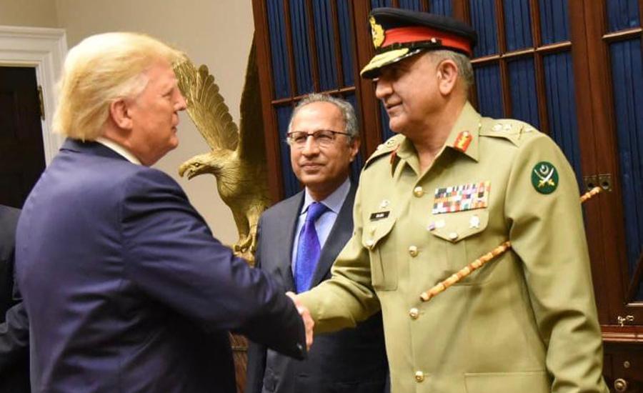 آرمی چیف جنرل قمر جاوید باجوہ کی بھی امریکی صدر ٹرمپ سے ملاقات، خطے کی سکیورٹی پر تبادلہ خیال