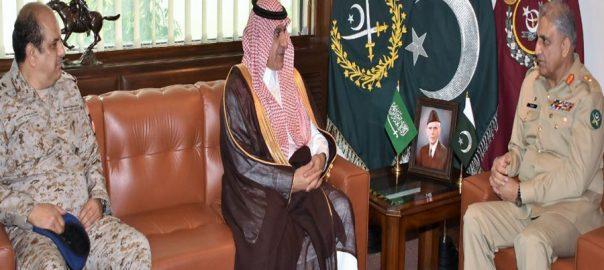 آرمی چیف سعودی عرب وزیر اطلاعات وزیر دفاع ملاقات علاقائی سلامتی تبادلہ خیال