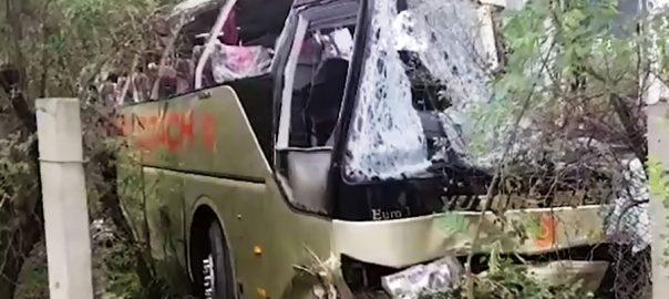 حسن ابدال موٹروے پ 10افراد جاں بحق 92 نیوز  موٹر وے پر پھسلن