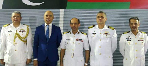 پاک بحریہ جہاز پی این ایس شاہجہان عمان بندرگاہ سلطان قابوس دورہ