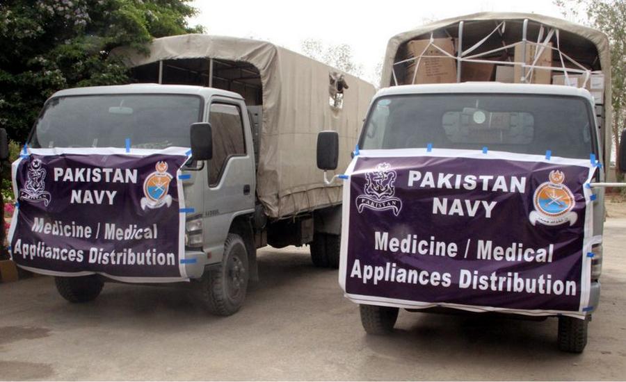 پاک بحریہ کا ڈی ایچ کیو اتھل کو 30 لاکھ مالیت کے طبی سامان و ادویات کا عطیہ