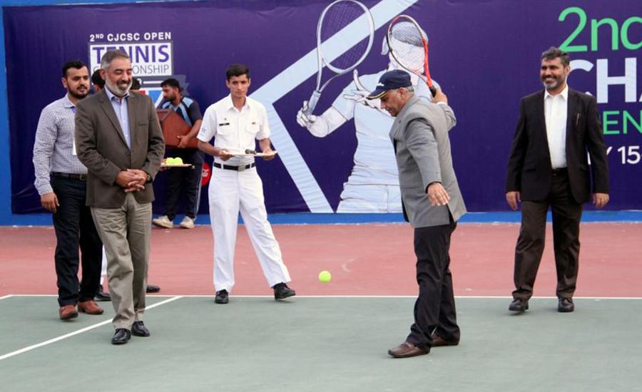 دوسری چیئرمین جوائنٹ چیف آف ا سٹاف کمیٹی اُوپن ٹینس چیمپئن شپ کراچی میں شروع ہو گئی