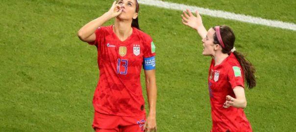 ویمن فٹبال ورلڈ کپ امریکا انگلینڈ سیمی فائنل لیون  92 نیوز