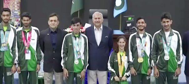ائیر چیف مارشل اسپیشل اولمپکس لاہور  92 نیوز پاک فضائیہ  مجاہد انور خان