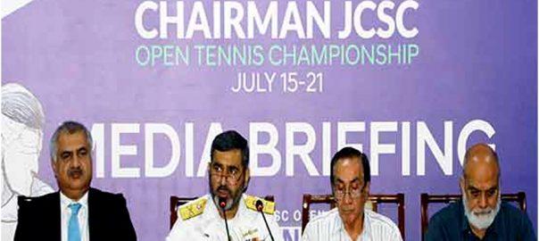 جوائنٹ چیفس آف سٹاف  ٹینس چیمپئن شپ  کراچی  ویب ڈیسک 