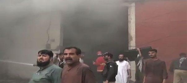 شیرشاہ کراچی کپڑے گودام آگ گھنٹے بے قابو