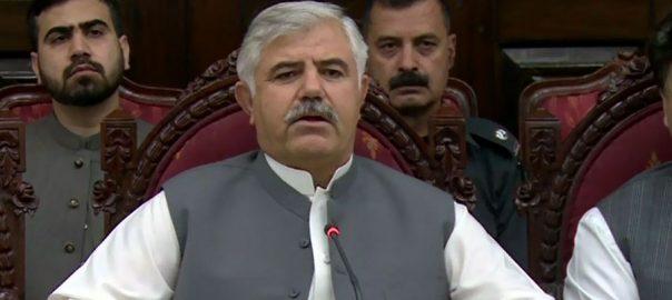 وزیر اعلی کے پی پشاور  92 نیوز محمود خان  ضم شدہ اضلاع  کامیاب انتخابات  بائلی عوام پاک فوج  فری اینڈ فیئر انتخابات 