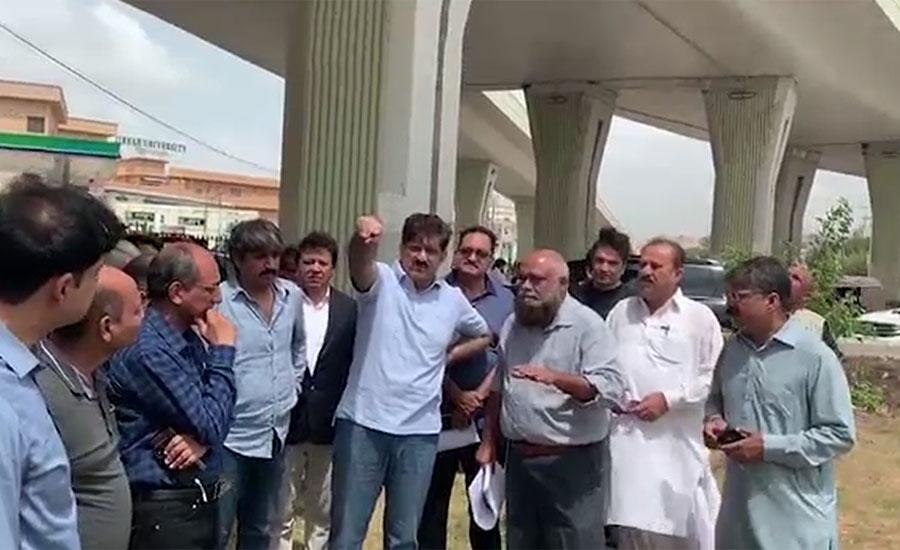 وزیر اعلیٰ سندھ کا کراچی کے مختلف شہروں کا دورہ