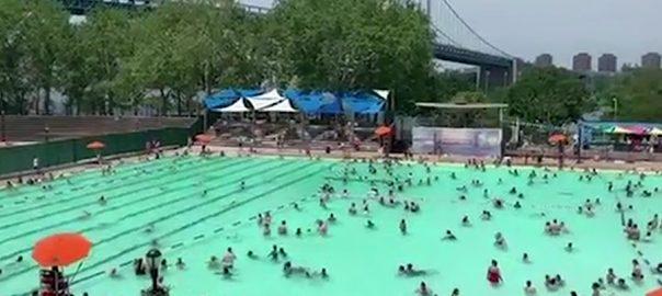 امریکا  مشرقی  وسطی ریاستیں شدید گرمی نیو یارک  92 نیوز